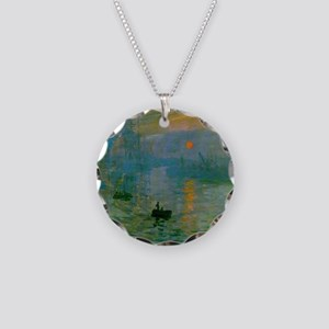 Impression, Sunrise Necklace Circle Charm