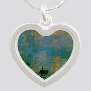 Impression, Sunrise Silver Heart Necklace