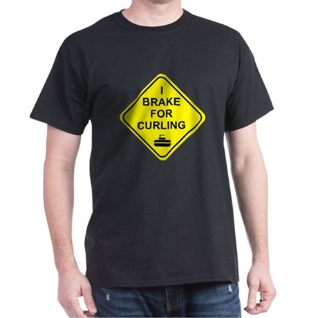 I Brake for Curling, Dark T-Shirt