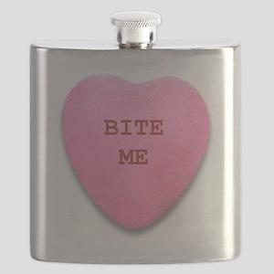 Bite Me Heart Flask