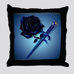 The Black Rose and Dagger_mpad Throw Pillow