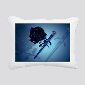 The Black Rose and Dagge Rectangular Canvas Pillow