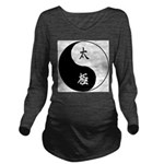Taiji Long Sleeve Maternity T-Shirt
