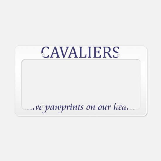 FIN-ckcs-pawprints-CROP License Plate Holder
