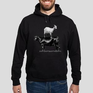 Goat on cow-1 Hoodie (dark)