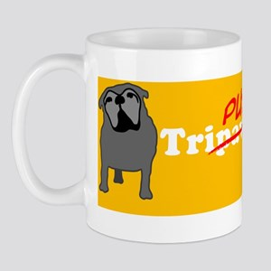 Tri-Pug Power 10x3 Sticker Mug
