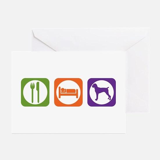 Eat Sleep Pointer Greeting Cards (Pk of 10)