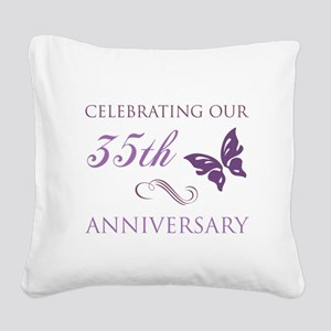 35th Wedding Aniversary (Butterfly) Square Canvas