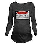 Attitude Vegetarian Long Sleeve Maternity T-Shirt