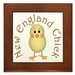 New England Chick Framed Tile