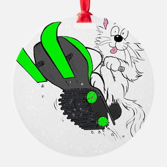 Snowmobile Green II for Dark Appare Ornament