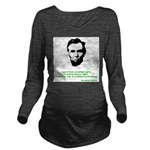 Abraham Lincoln Long Sleeve Maternity T-Shirt