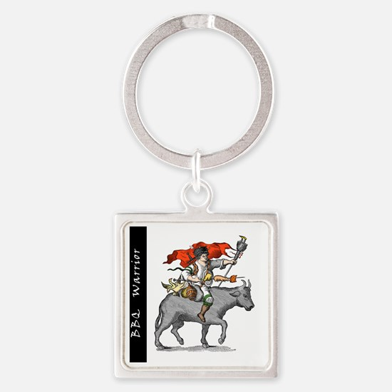 BBQ WarriorReverse - Reduced Square Keychain