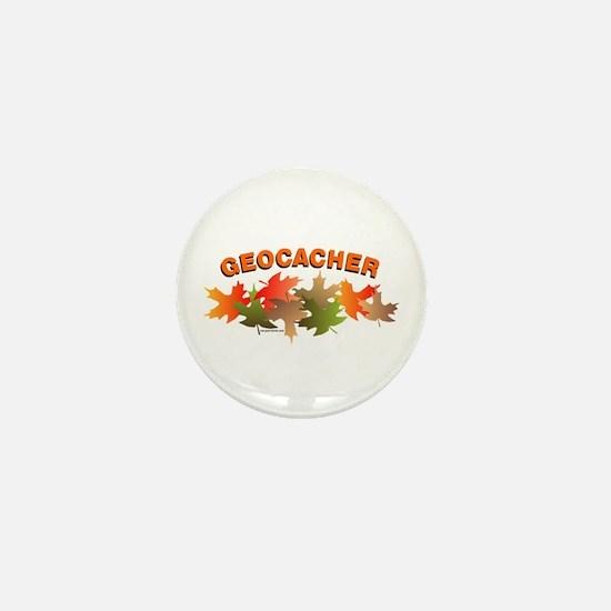 Autumn Geocacher Mini Button