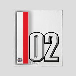 02redwhite Throw Blanket