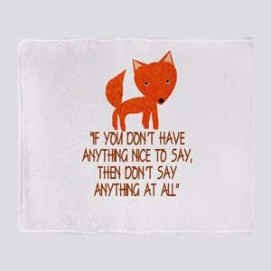 What does the fox say? Throw Blanket
