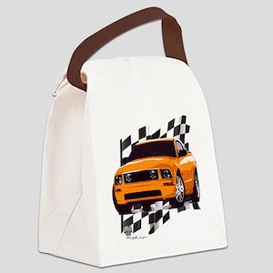 2006orange Canvas Lunch Bag