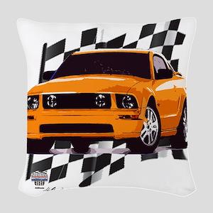 2006orange Woven Throw Pillow