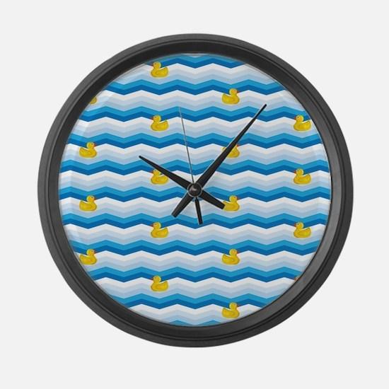 Duck Duck Duck Pattern Large Wall Clock