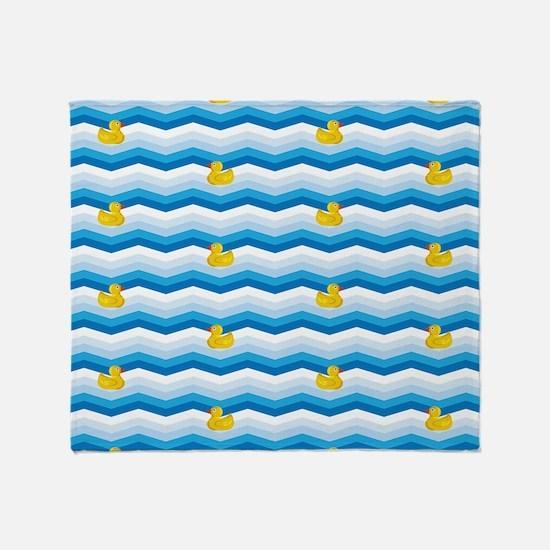 Duck Duck Duck Pattern Throw Blanket