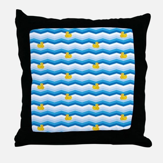 Duck Duck Duck Pattern Throw Pillow