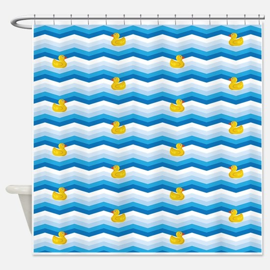 Duck Duck Duck Pattern Shower Curtain