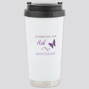 8th Wedding Aniversary (Butterfly) Stainless Steel