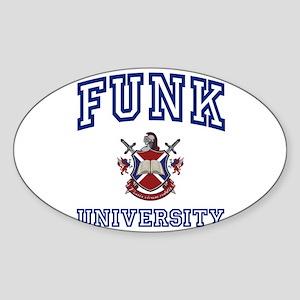 FUNK University Oval Sticker