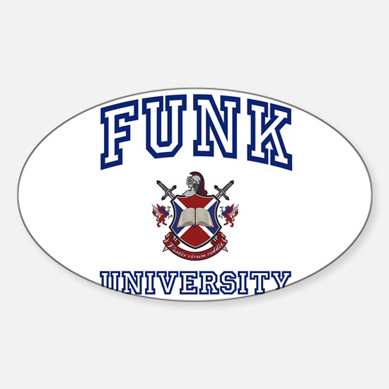 FUNK University Oval Decal