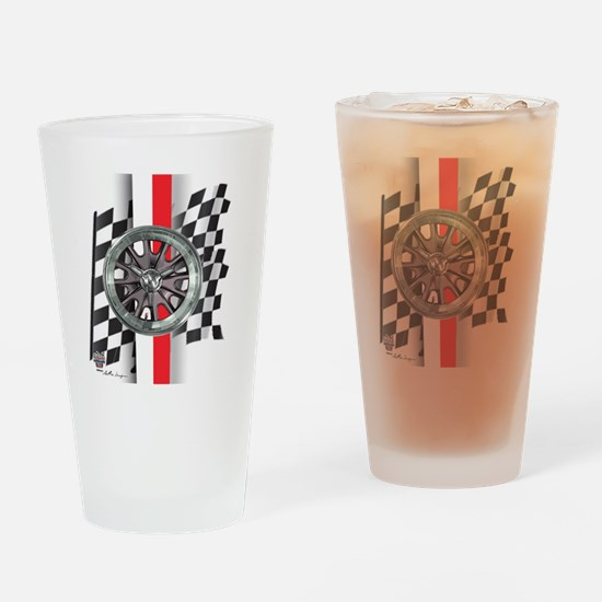 mag-red-white Drinking Glass