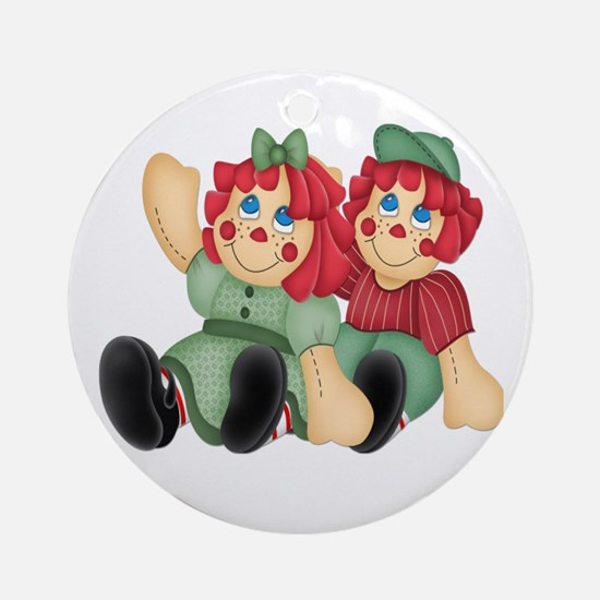 Raggedy Ann & Andy Doll's Ornament (Round)