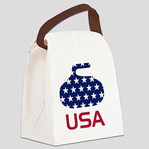 curlingUSA Canvas Lunch Bag