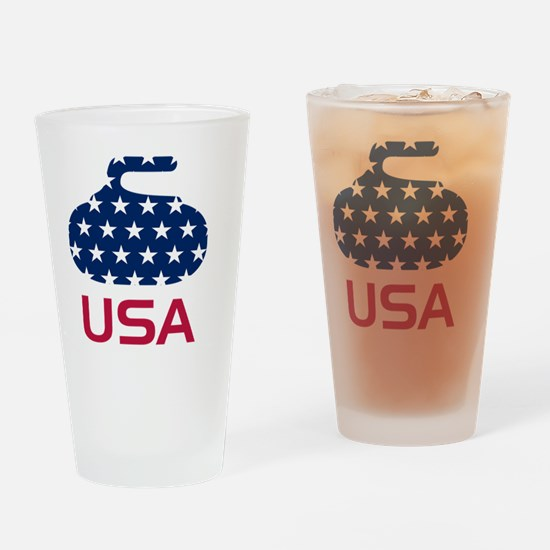 curlingUSA Drinking Glass