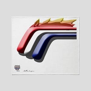 mustanghorse3b Throw Blanket