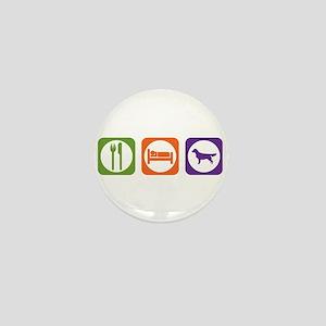 Eat Sleep Retriever Mini Button