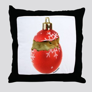 X-mas Chick Throw Pillow