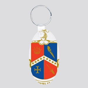 Stationary-0 Aluminum Oval Keychain