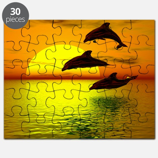 dolphins-sunset Puzzle