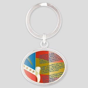 ADG-Background-4 Oval Keychain