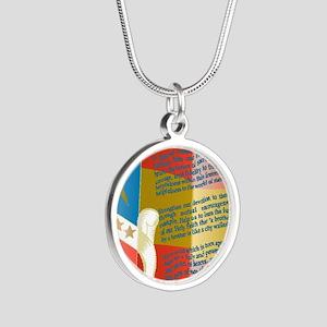 ADG-Background-4 Silver Round Necklace