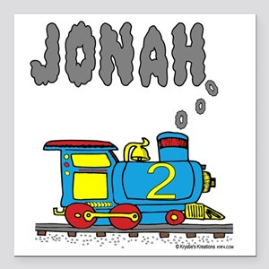"jonahtrain Square Car Magnet 3"" x 3"""