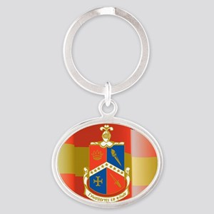 Alpha-Delta-Gamma-Flag Oval Keychain