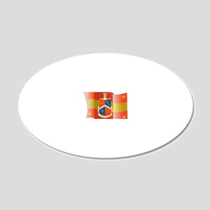Alpha-Delta-Gamma-Flag 20x12 Oval Wall Decal