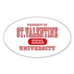 St. Valentine University Oval Sticker