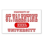 St. Valentine University Rectangle Sticker