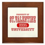 St. Valentine University Framed Tile
