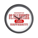 St. Valentine University Wall Clock