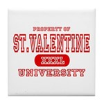 St. Valentine University Tile Coaster