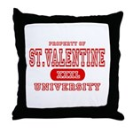 St. Valentine University Throw Pillow