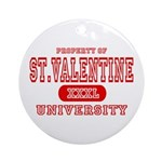 St. Valentine University Ornament (Round)